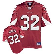 100% polyester Reebok Arizona Cardinals Edgerrin #32 James Team Color Jersey(RED)NFL JERSEYS!!!