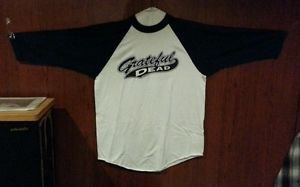 Original Vintage GRATEFUL DEAD 1999 Script Logo Baseball T Shirt  Large Deadhead