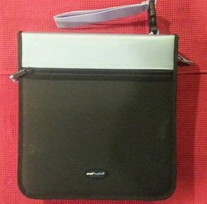 CD PROJECTS SPORT 208 Capacity CD/DVD Pro bubble sleeves Nylon Binder Black Blue