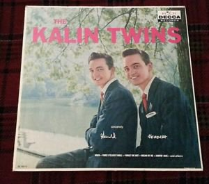 THE KALIN TWINS LP ORIGINAL 1ST PRESS DL 8812  1959  PRISTINE PLAYBACK EX / VG