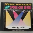 SC 8515 POP HITS - VOL. 87 SPOTLIGHT SOUND CHOICE KARAOKE CD+G RARE