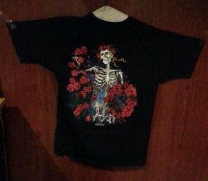 Grateful Dead T Shirt Vintage ORIG RARE 1986 ROSES SKELETON LIKE-NEW LARGE LG