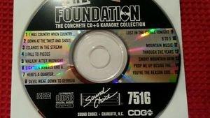 SC 7516 SOUND CHOICE KARAOKE THE FOUNDATION CD+G RARE single disk for sale