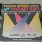 SC 8507 COUNTRY HITS VOL. 107 SOUND CHOICE SPOTLIGHT KARAOKE CD+G NM- AWESOME