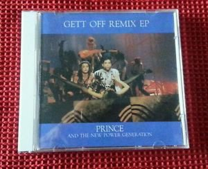 PRINCE Japan PROMO issue CD EX GETT OFF Remix EP THE NEW POWER GERERATION RARE