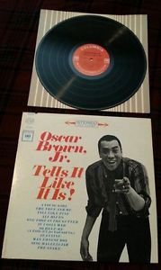 "OSCAR BROWN, JR. - Tells It Like It Is! LP NM- R&B Jazz Blues ""The Snake"""