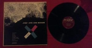 "Rare Jazz 10"" 1952 LP : Jazz-Jive And Boogie on Pontiac label made by Remington"