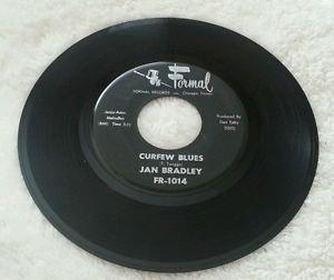 """JAN BRADLEY WE GIRLS / CURFEW BLUES 7"""" EX+ FR 1014 Chicago 1962 Northern Soul 45"""