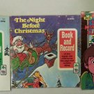 Lot of 3 Childrens Christmas Records - 45 & 33 1/3 rpm Album/Book Sets