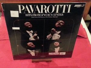 SEALED Pavarotti - Hits From the Lincoln Center LP London 1978 EUROPE IMPORT NEW