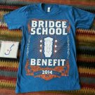 Pearl Jam Bridge School Benefit SM Men's Shirt Year 2014 Blue CD Bridge Concerts