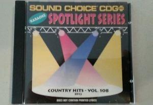 SC 8512 COUNTRY HITS VOL.108 SPOTLIGHT SOUND CHOICE KARAOKE CD+G RARE