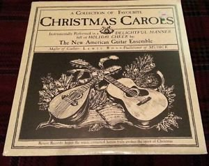 "LEWIS ROSS / THE NEW AMERICAN (STEEL) GUITAR ENSEMBLE ""CHRISTMAS CAROLS"" NEW LP"
