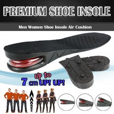 3/5/7cm Men Air Cushion Heel Shoe Insole Insert Increase Taller Height Lift
