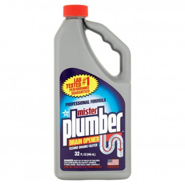 3 MISTER PLUMBER PROFESSIONAL 32 OUNCE DRAIN OPENER CLEANS DRAINS FASTER
