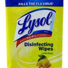 Lysol Disinfecting Wipes LEMON -Great for On The Go (10 WIPES)