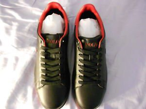 Ralph Lauren POLO Black Leather Sneakers  US Shoe Size(Men's):11.5D  Medium New