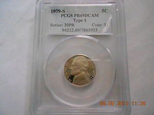 1979-S  Jefferson Nickel Type 1 Proof 69DC  PCGS