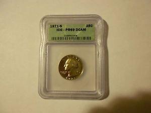 1971-S Washington Quarter  Proof 69DC  ICG