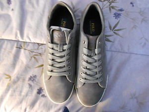 Ralph Lauren POLO Grey Sport Suede Sneakers(Harvey)   Size: 11.5D  New in box