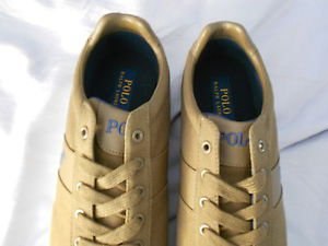 Ralph Lauren POLO Sepia(brown) Canvas Sneakers(Hanford) Size:11.5D  New in box