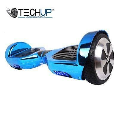 Techup Chrome Blue Hoverboard 6.5 inch