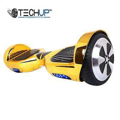 Techup Chrome Gold Hoverboard 6.5 inch