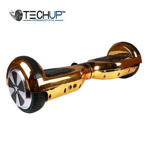 Techup Holographic Gold Hoverboard 6.5 inch