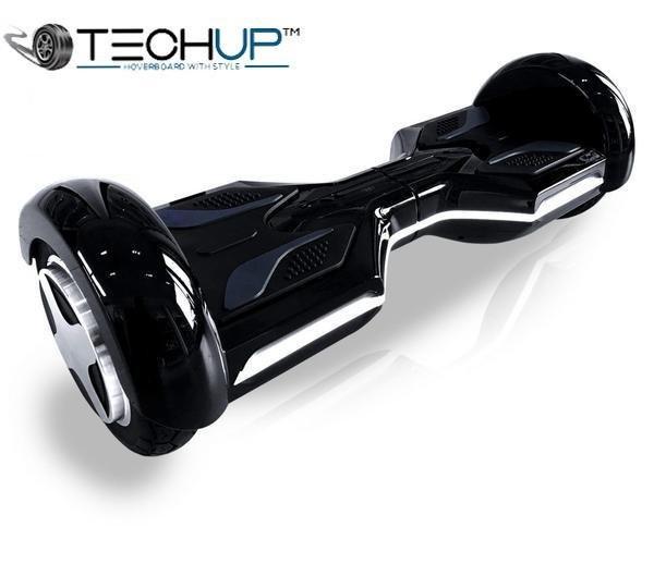 Techup Jet Black OTO Auto Pilot Balance 8 inch Hoverboard