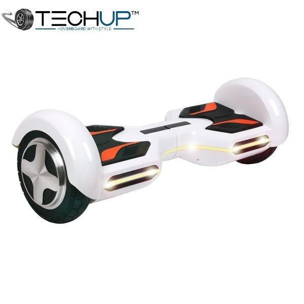 Techup White OTO Auto Pilot Balance 8 inch Hoverboard