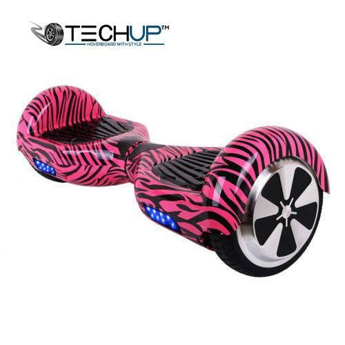 Techup Pink Ink Zebra Hoverboard 6.5inch