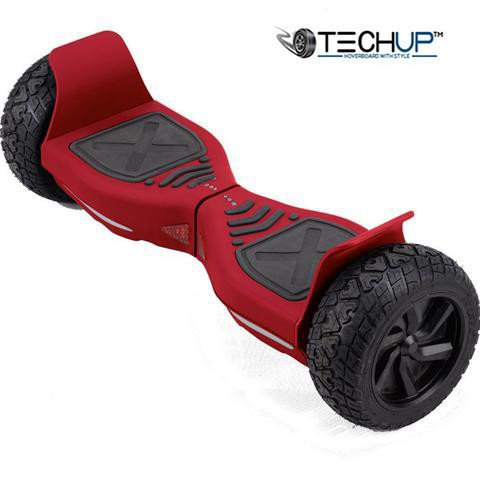 Techup Off Road All Terrain Hoverboard 8inch Red