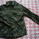 Korea Brown Flower Shirt