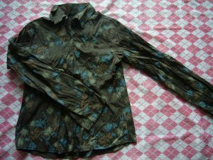 Korea Brown Flower Shirt