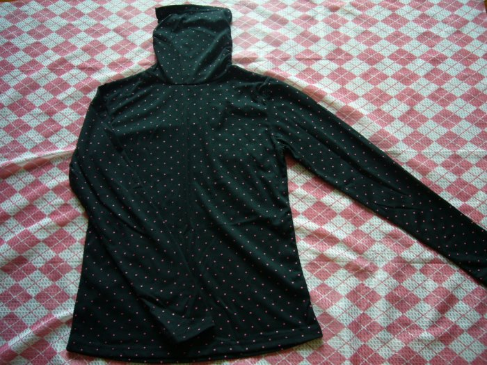 Hong Kong Pink Polks Dots Black Turtle Neck Tee