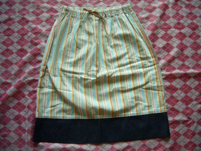Hong Kong Green House Lines Skirt w/ Jean Part