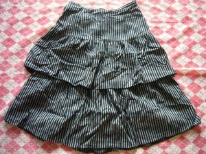 Hong Kong Veeko Black Lines Layers Skirt