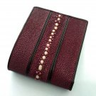 Leather Wallet Stingray Leather Wallet Bifold Wallet Full Row Stingray Fishbone Spines