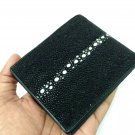 Leather Wallet For Men Genuine Stingray Leather Bifold Wallet Full Row Fishbones