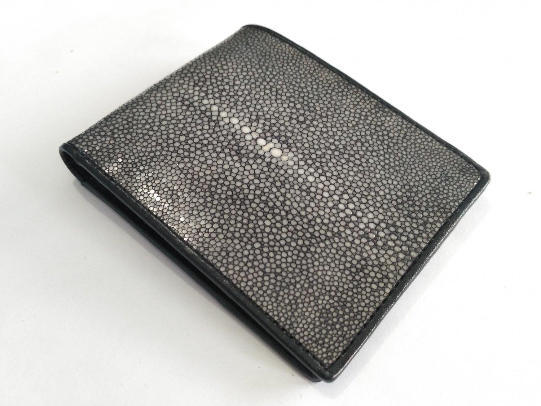 Sanded Stingray Skin Wallet Genuine Leather Bifold Wallet For Men