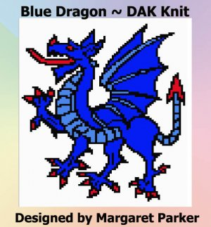 Blue Dragon Machine Knit DAK ePattern