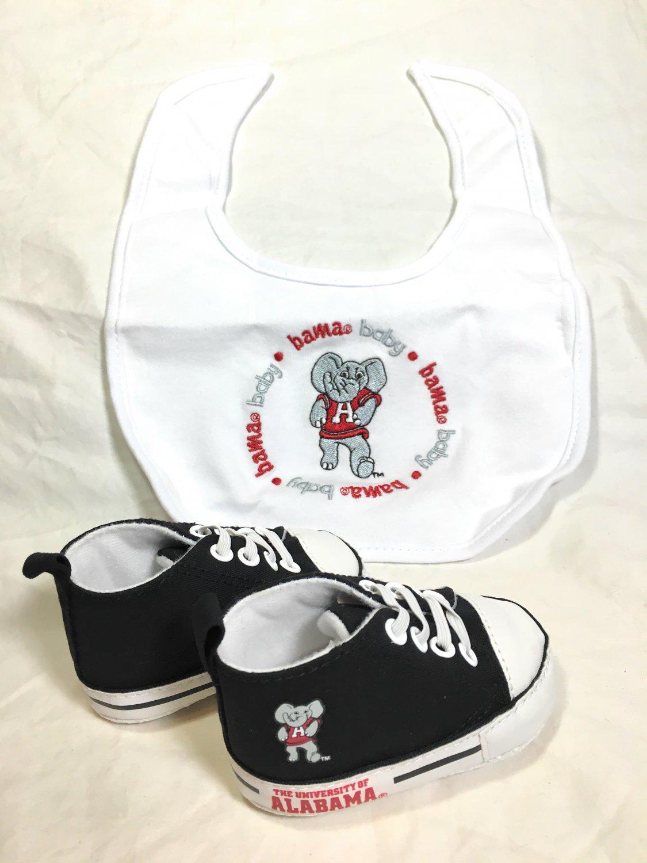 The University of Alabama - Baby Fanatic Bib & Pre-Walkers Gift Set - NEW