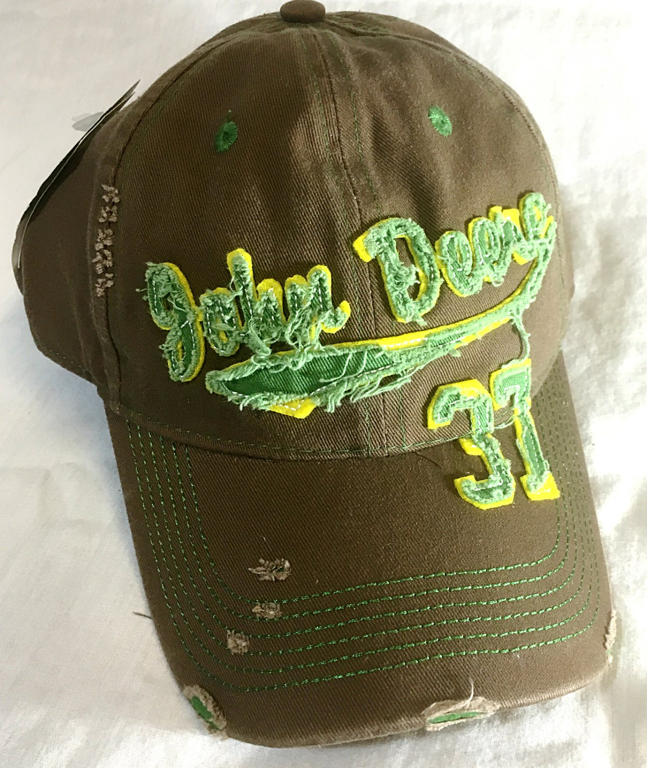 John Deere 37 Distressed Twill Baseball Cap - Size: One-Size - NEW w/Tags