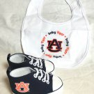 Auburn University - Baby Fanatic Bib & Pre-Walkers Gift Set - NEW