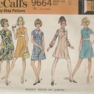 MCCALL'S [PATTERN 9664--MISSES' DRESS OR JUMPER--SIZE 12/BUST 34