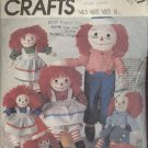 "MCCALL'S PATTERN 2447--RAGGEDY ANN & ANDY--10""-15""-20""-25"""