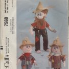 MCCALL'S UNCUT  PATTERN 7560--HILLBILLY STUFFED DOLLS--12 & 17 INCHES