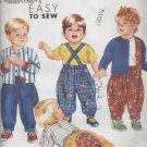 SIMPLICITY PATTERN 7529--UNCUT--TODDLER'S PANTS, SUSPENDERS, TOP, LINED JACKET--SIZE A (1/2--4)