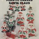 PLASTIC CANVAS SANTA CLAUS--NEEDLECRAFT ALA MODE LEAFLET 107