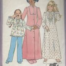 SIMPLICITY PATTERN 7731--GIRLS'JIFFY ROBE, NIGHTGOWN & PAJAMAS--SIZE 10